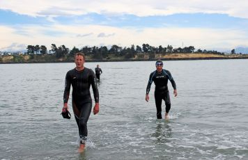 Ocean swimmers Andy Collins & Tim Holt.
