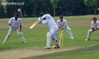 Stan Mair (Pleasant Point) is bowled