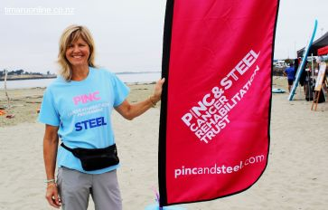 Susan Morton, principal organizer of the Pinc & Steel Paddle for Life fundraiser event