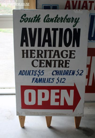 The South Canterbury Aviation Heritage Centre is open Tuesdays, Sundays and public holidays between 2pm and 4pm