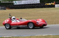 Barry Bates (57) in his 1964 Thompson Special , 1500 cc