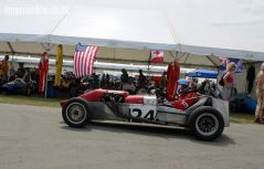 Chris Reid brings in his 1964 AML Sports Racing