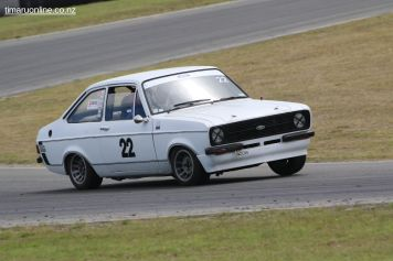 Ross Hamilton (22), from Oamaru, in his 1978 Ford Escort Mk 2