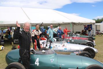 Graham Barron, from Preston, England, with his 1959 Gemini Mk 2, and the line-up of Geminis
