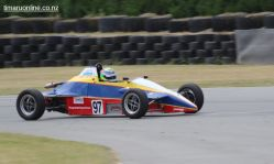 Andy McElrea, from Australia, with his 1988 Van Dieman RF 88