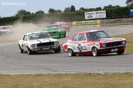 (28c) Anton Stevens, from Australia leads his 1972 Holden XU-1 out of the S-bend