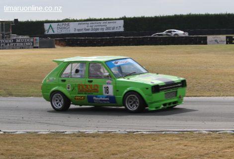 Murray Ball, from Ashburton, in a Toyota Scarlett