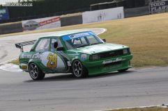 Matt Dunn, from Timaru, in his Toyota Corolla DX.