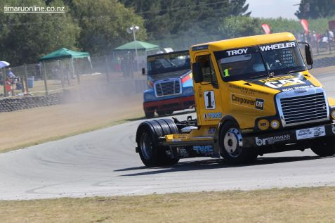 Troy Wheeler, from Auckland in his Freightliner Century
