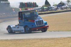 Malcolm Little, from Upper Hutt, in a Freightliner