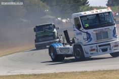 Dave West, from Pukekohe, in his Freightliner Argosy super truck