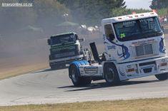 Dave West, from Pukekohe, in his Freightliner Argosy super truck