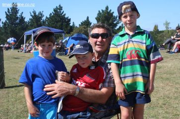 David Bailey, with grandsons Luke, Toby and Will