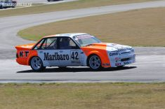 (42) Mike Baldwin, from Timaru in his Holden Commodore VK
