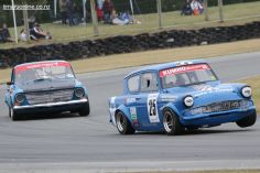 Tim McCullough, from Christchurch, in his Ford Anglia