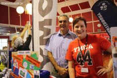 Craig Courtis and Michele Keggenhoff at the YMCA South and Mid Canterbury display