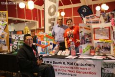 The YMCA South and Mid Canterbury team L-R: Jamahl Kingi, Craig Courtis and Michele Keggenhoff