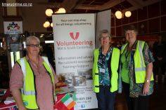 "These ladies wear lots of ""hats"": Louise Terry, Leonie Wilson and Robyn Baldwin promote the services of Volunteering Mid & South Canterbury."
