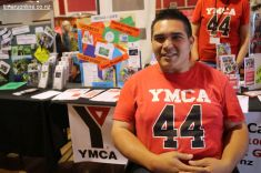 Jamahli Kingi, at the YMCA desk