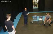Drama Class: Johannes Runge, Don McCully and Tim Wills