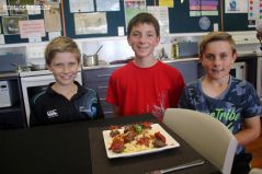Jack Clark, Tarris Darling and Conor Guthrie like the look of the food technology products