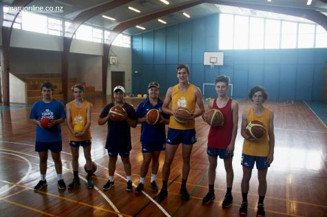 Basketballers take a break from practice