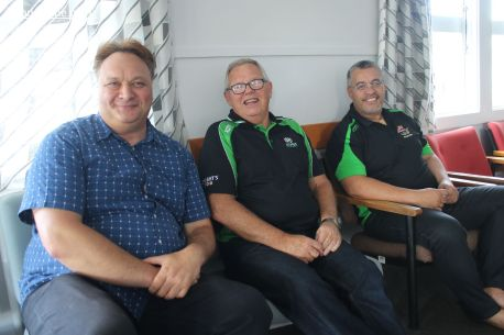 L-R: Rino Tirikatene (MP for Te Tai Tonga), Craig Calder (CEO South Canterbury Rugby Union) and Howie Peeti (Chairman, Aoraki Maori Rugby)
