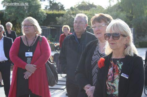 Sonia King (Accredited Visiting Service - Age Concern), Les Jones (Aorangi & Harding Memorials), Robyn Baldwin (Timaru Senior Citizens) and Liz Shea (CEO, Community Trust of Mid & South Canterbury)