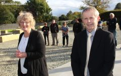 Jenny Ensor and Bill Steans from the Timaru District Council