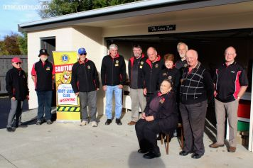 Timaru Host LIons Club members gave funding and practical assistance to the project.