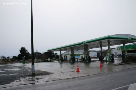 Showgrounds Service Station is drier, but was still shut this morning.