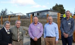 "South Canterbury Free Kindergartens Association general manager Dave Hawkey (second right) said the kindergarten would be a ""fantastic facility"" for the growing township."