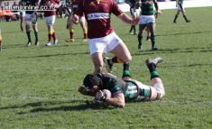 Captain Kieran Coll scores his second try