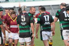 Ben Hewitson calls for a big scrum from his team-mates